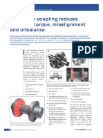 New Pump Coupling Reduces Effects of Torque, Misalignment and Unbalance