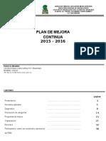 Plan de Mejoras 2016