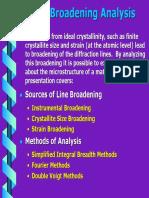 Line Broadening Analysis