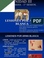4° clase- LESIONES  POR ARMA BLANCA.ppt