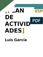 Plan de Actividades