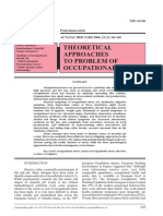 Theoretical Approaches to Problem of Occupational Stress