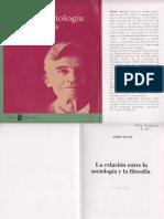 Mario Bunge - La Relación Entre La Sociología y la Filosofía