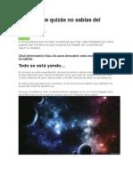 3 Datos Que Quizás No Sabías Del Universo