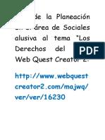 Link de La Planeación en El Área de Sociales Alusiva Al Tema