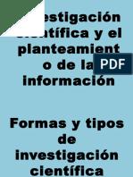 2.- Investigación Científica y El Planteamiento de La Información SOPHIA