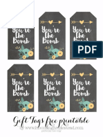 Youre the Bomb Printable Tags by Blooming Homestead