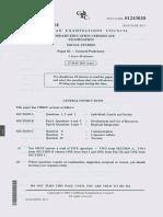 Social Studies Past Paper