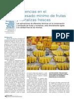 Frutas minimamente processadas