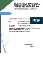 Informe Prueba Microbiolocica de Determinacin de La Leche (Autoguardado) - Copia