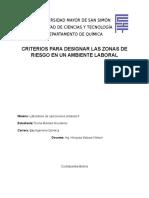 criterio para designar las zonas de riego en un ambiente laboral