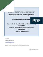 Pérdida de talentos en Venezuela (Requena y Caputo, 2016).docx