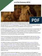 Macbeth 2015 Movie Eview