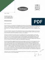 LRT letter from International Village businesses