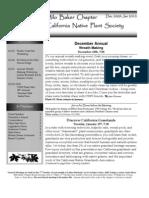 Milo Baker Chapter Newsletter, December 2009 ~ California Native Plant Society