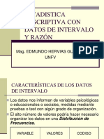 Estadistica Descriptiva Con Datos Intervalo y Razon