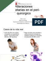 Alteraciones plaquetarias en el perioperatorio
