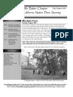 Milo Baker Chapter Newsletter, July 2009 ~ California Native Plant Society