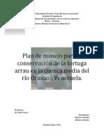 Plan de Manejo Tortuga Arrau Portada e Índice