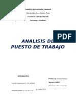 Análisis de Puesto de Trabajo- Auto Nasa Centro, c.a.