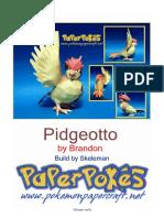 Pidgeotto Lineless A4
