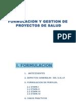 FORMULACION Y GESTION DE  PROYECTOS DE SALUD