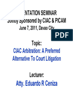 CIAC Arbitration EO 1008 Ceniza Lecture - 38 Pages