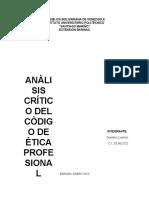 Analisis Critico Del Codigo de Etica Del Colegio de Ingeniero