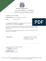 Certificado de Existencia de Fondos