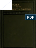 Max Müller and the philosophy of language (1879)