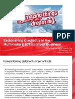 Establishing Credibility in Multimedia Business