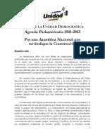 Agenda Par Lament Aria 2011 - 2015 (MUD)