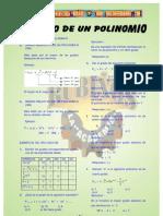 GRADO Y VALOR NUMÉRICO DE UN  POLINOMIO
