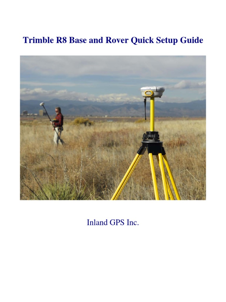 Trimble R8 Base and Rover Quick Setup Guide | Surveying | Radio
