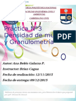 Granulometria y d Muestras