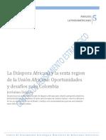 e.La Diaspora Africana y la Sexta Región  de la Union Africana, Oportunidades y Desafios para Colombia - Julio 2012 - Jeronimo DELGADO.pdf