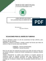 Tema N 8 Ecuaciones Para El Diseno de Tuberias