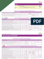 2016 IDC Course Calendar