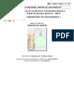 INFORME N°03 PRESION DE VAPOR- LAB. FISICOQUIMICA I