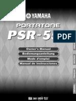 PSR550 yamaha