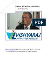 Arun Lakhani's Vision and Mission for Vishvaraj Infrastructure