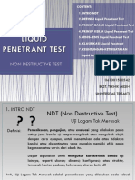 Liquid Penetrant Test