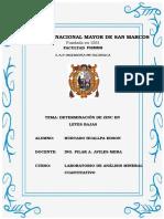 Monografia Determinacion Del Zinc Ley Baja