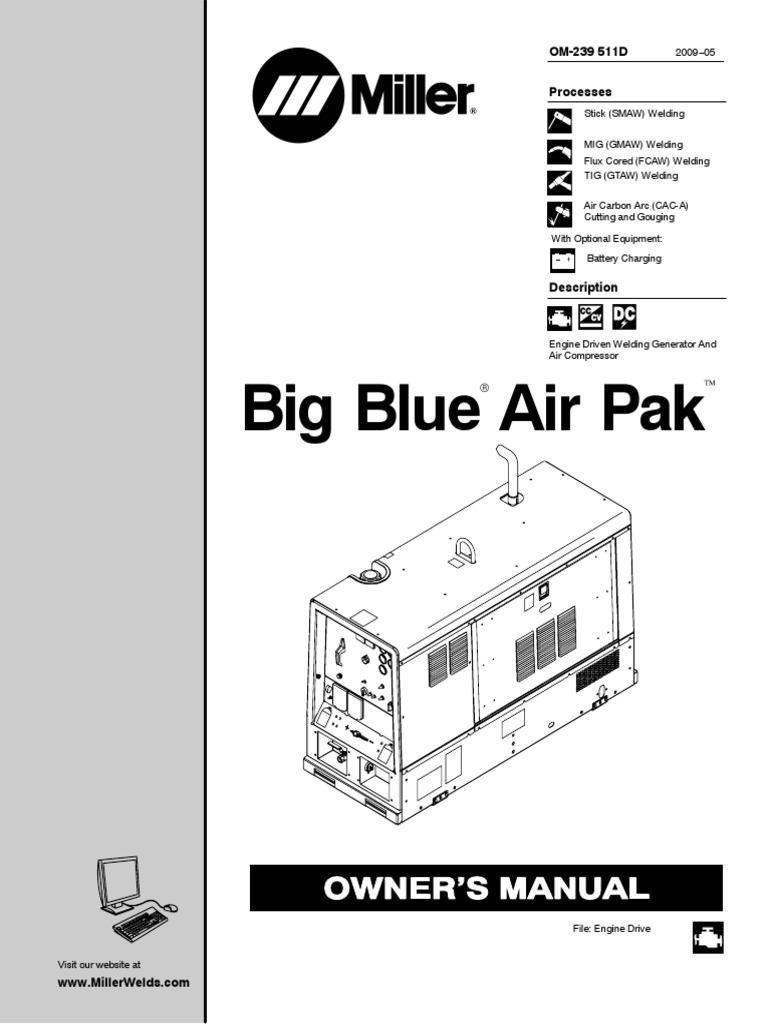 Manual de Miller maquina de soldar | Welding