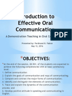 Introduction to Effective Oral Communication