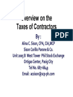 Taxability of Contractors - 89 Pages