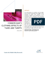 Common Mans Clothing Effects of Taxes and Tariffs