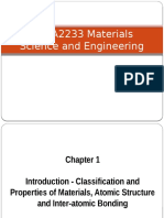 Lecture 1-1 Classification and Properties of Materials