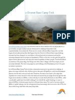 Jiri to Everest Base Camp Trek | Basecamp Adventure