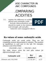 CAPE CHEMISTRY UNIT 2-Comparing Acidities